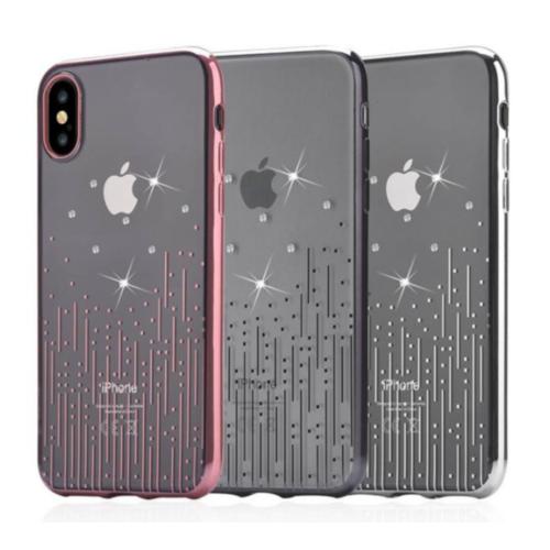 Чохол Devia для iPhone X Crystal Meteor Series (Rose-Gold)