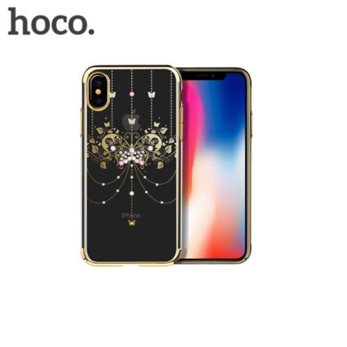 Чохол HOCO для iPhone X Diamond Whisper Dancing Butterfly Series (Gold)