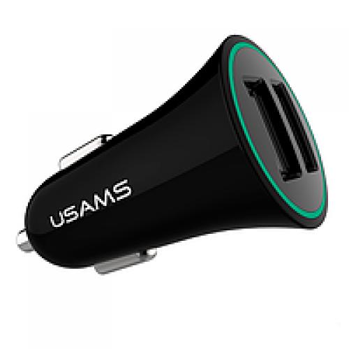 Прикурювач Usams Trumpet Series 2xUSB 2.1a (Black)