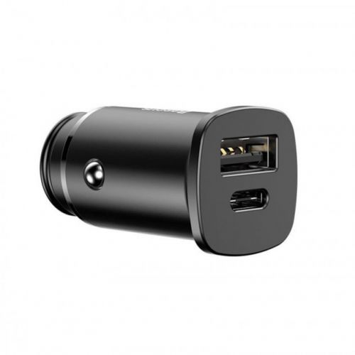Автомобільний зарядний пристрій Baseus Circular Plastic A+C 30W Black