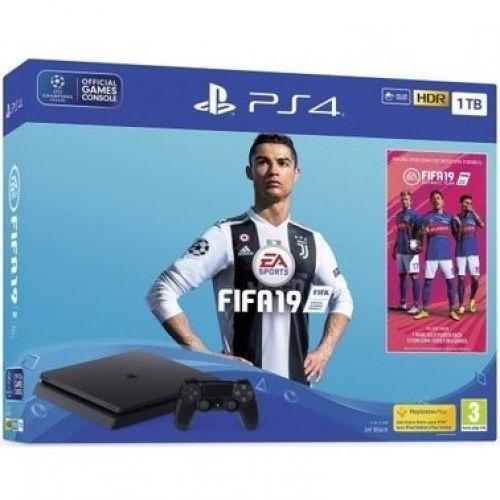Sony Playstation 4 Slim (PS4 Slim) 1 TB + FIFA 19