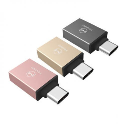 Адаптер Mcdodo USB-C to USB3.0 (Gold)