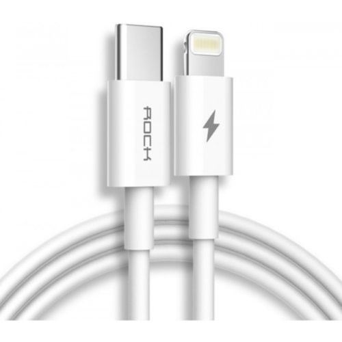 Кабель Rock USB-C to Lightning 1m (White)