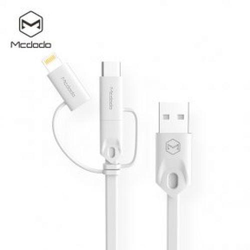 Кабель McDodo USB-C to AM-USB 25cm (White)