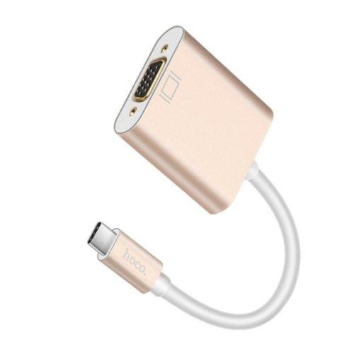 Адаптер Hoco HB6 Yito USB-C to VGA (Gold)