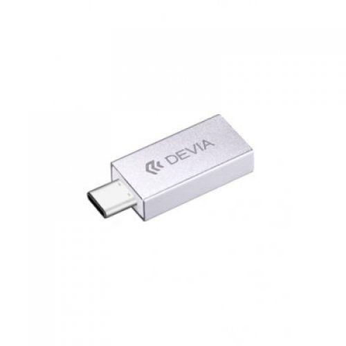 Адаптер Devia USB-C to USB3.0 (Silver)