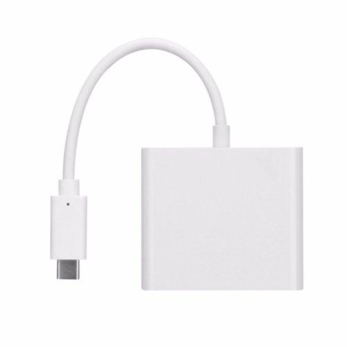 Адаптер Multiport USB-C to USB-C+2xUSB+Card Reader (Silver)