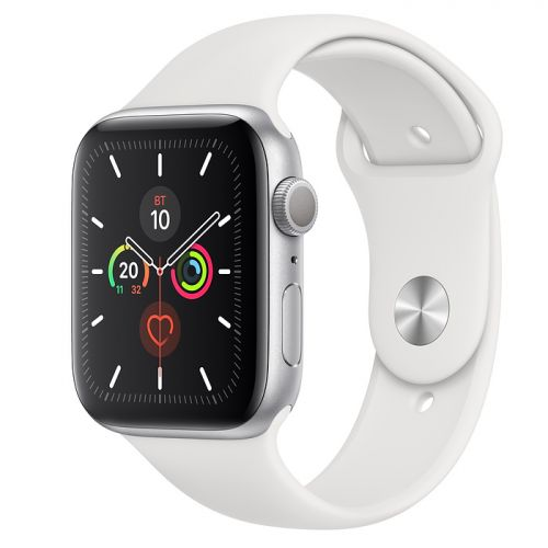 Apple Watch Series 5 40mm Silver Aluminium Case with White Sport Band (MWV62)