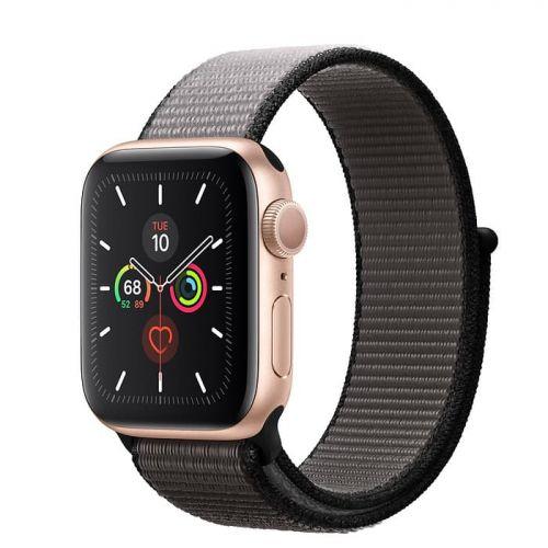 Apple Watch Series 5 40mm Gold Aluminium Case with Anchor Gray Sport Loop (MWTQ2)