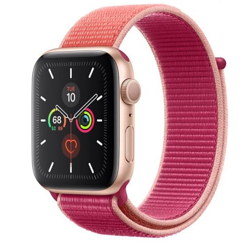 Apple Watch Series 5 40mm Gold Aluminium Case with Pomegranate Sport Loop (MWTR2)