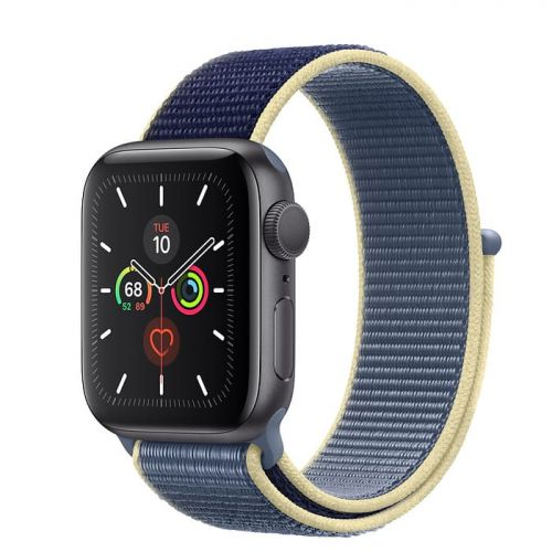 Apple Watch Series 5 40mm Space Gray Aluminium Case with Alaskan Blue Sport Loop (MX3M2)