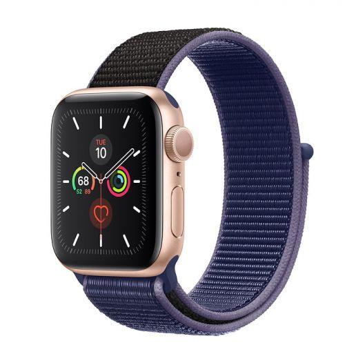 Apple Watch Series 5 40mm Gold Aluminium Case with Midnight Blue Sport Loop (MX3N2)