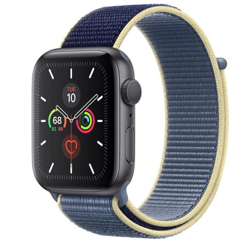 Apple Watch Series 5 44mm Space Gray Aluminium Case with Alaskan Blue Sport Loop (MX3P2)