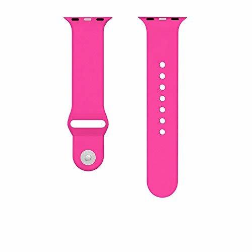 Ремінець для Apple Watch 38mm Sport Series 1:1 Original (Barbie Pink)