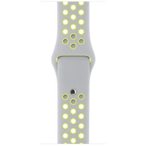 Ремінець для Apple Watch 38mm Nike Sport Series 1:1 Original (Grey-Yellow)
