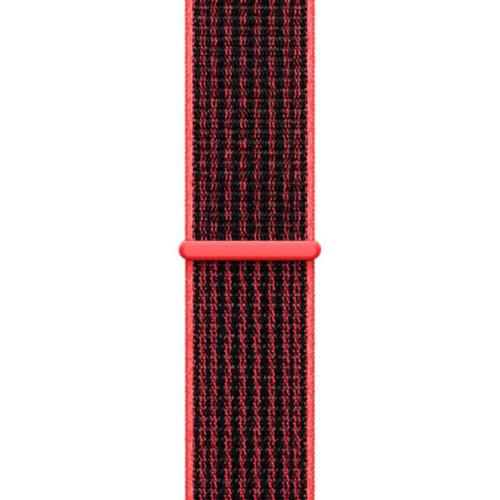 Ремінець для Apple Watch 38mm Sport Loop Series 1:1 Original (Red-Black)