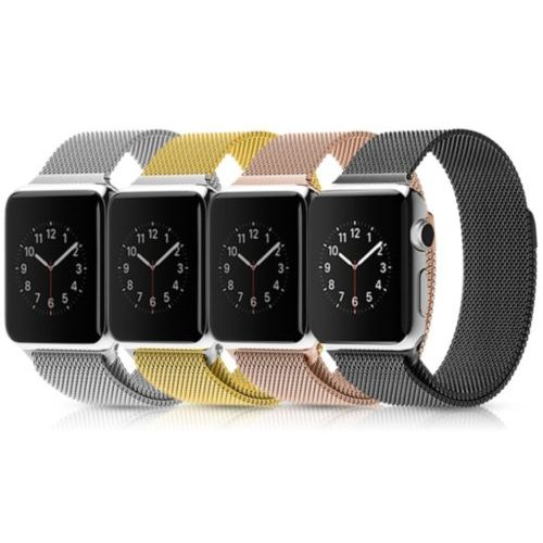 Ремінець для Apple Watch 38mm Milanes Series 1:1 Original (Gold)