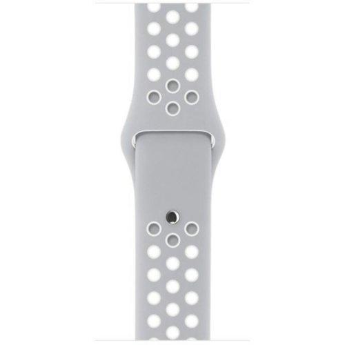 Ремінець для Apple Watch 42mm Nike Sport Series 1:1 Original (Grey-White)
