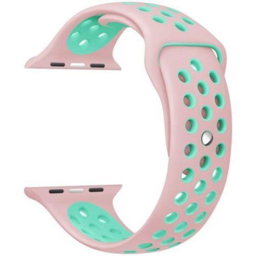 Ремінець для Apple Watch 42mm Nike Sport Series 1:1 Original (Pink-Sky Blue)