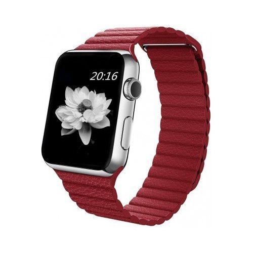 Ремінець для Apple Watch 42mm Leather Loop Series 1:1 Original (Red)