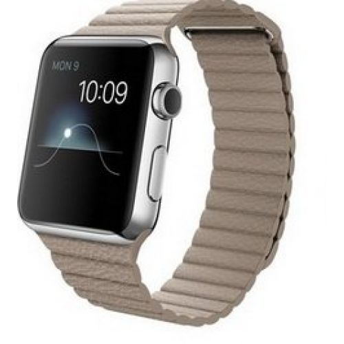 Ремінець для Apple Watch 42mm Leather Loop Series 1:1 Original (Stone)