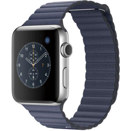 Ремінець для Apple Watch 42mm Leather Loop Series 1:1 Original (Midnight Blue)
