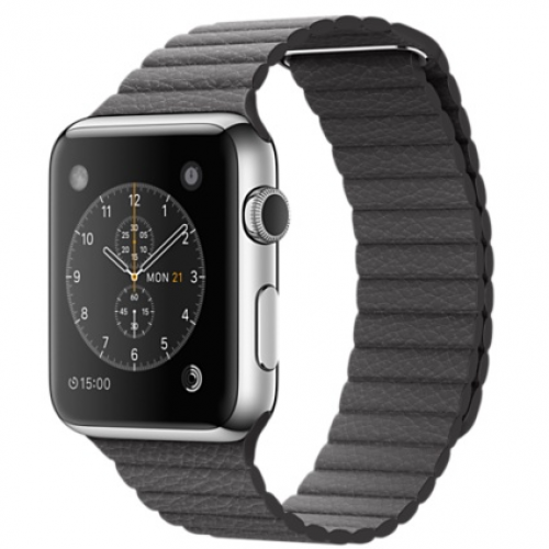 Ремінець для Apple Watch 42mm Leather Loop Series 1:1 Original (Storm Grey)