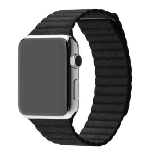 Ремінець для Apple Watch 42mm Leather Loop Series 1:1 Original (Black)