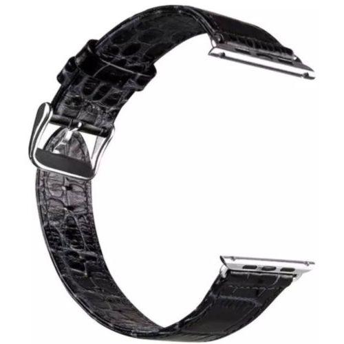 Ремінець Hoco для Apple Watch 42mm Art Real Leather Crocodile Series (Black)